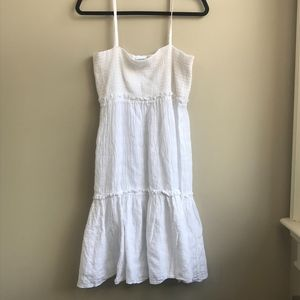 Cotton by Caramella Md Smocked White Sundress